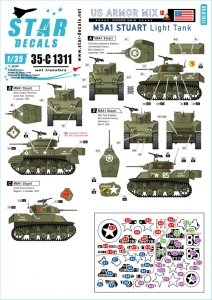 Star Decals 35-C1311 US Armored Mix # 4 1/35