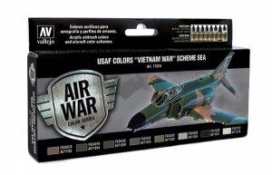 "Vallejo 71204 Air War Color Series - USAF colors ""Vietnam War"" Scheme SEA (South East Asia)"