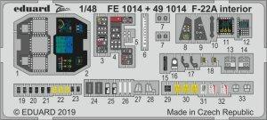 Eduard 491014 F-22A interior HASEGAWA 1/48