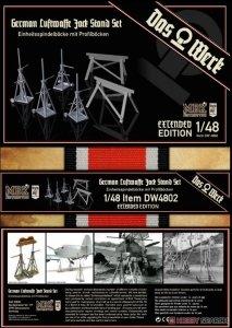 Das Werk DW4802 German Luftwaffe Jack Stand Set - Extended Edition 1/48
