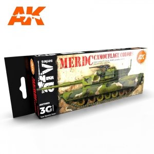 AK Interactive AK 11653 MERDC CAMOUFLAGE COLORS 8x17 ml