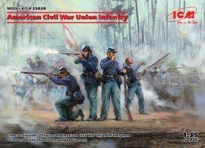 ICM 35020 American Civil War Union Infantry 1/35