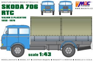 MAC RES43101 Škoda 706 RT/RT/3 1/43