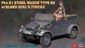 Hasegawa SP453 Pkw.K1 Kübelwagen Type 82 w/Blond Girl's Figure 1/24