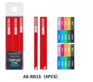 DSPIAE AS-RD15 ALUMINUM ALLOY SND BOARD RED 4PCS / Aluminiowa podkładka do papierów ściernych