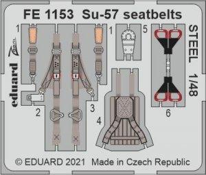 Eduard FE1153 Su-57 seatbelts for STEEL ZVEZDA 1/48