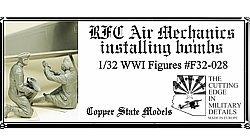 Copper State Models F32-028 RFC Air Mechanics installing the bombs 1:32