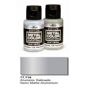 Vallejo 77716 Metal Color- Semi Matte Aluminium 32ml