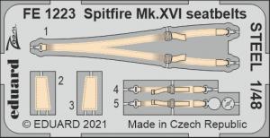Eduard FE1223 Spitfire Mk.XVI seatbelts STEEL EDUARD 1/48