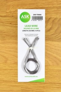 ASK T0066 Lead Wire - Round Ø 0,9 mm x 250 mm (14 pcs)