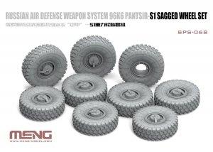 Meng Model SPS-068 Russian Air Defense Weapon System 96K6 Pantsir-S1 Sagged Wheel Set 1/35