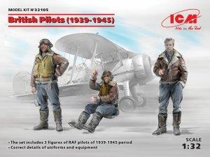 ICM 32105 British Pilots (1939-1945) (3 figures)  1/32