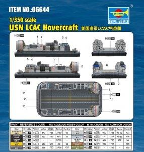 Trumpeter 06644 USN LCAC Hovercraft 1/350