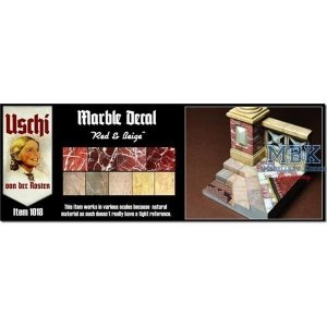 Uschi van der Rosten 1018 Marbel Decal Red/Beige 1/35