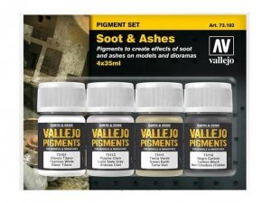 Vallejo 73193 Pigment Set Soot & Ashes 4x35ml