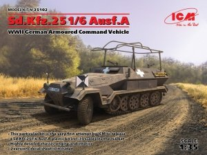 ICM 35102 Sd.Kfz.251/6 Ausf.A, WWII German Armoured Command Vehicle (1:35)
