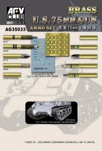 AFV Club AG35033 U.S. 75mm GUN AMMO SET(BRASS) 1:35
