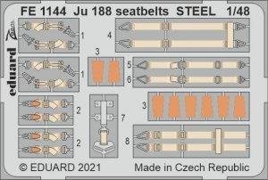 Eduard FE1144 Ju 188 seatbelts STEEL REVELL 1/48