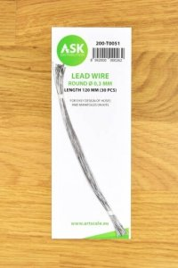 ASK T0051 Lead Wire  Round Ø 0,3 mm x 120 mm (30 pcs)