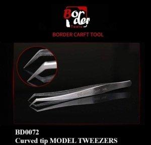 Border Model BD0072-1 Curved Tip Model Tweezer