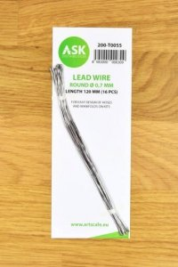 ASK T0055 Lead Wire  Round Ø 0,7 mm x 120 mm (16 pcs)