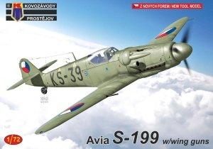 Kovozavody Prostejov KPM0218 Avia S-199 w/wing guns 1/72