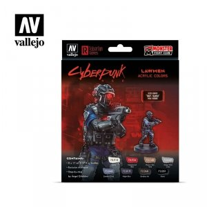 Vallejo 72308 Cyberpunk RED Lawmen Paint Set 8x17ml
