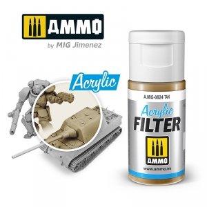 Ammo of Mig 0824 ACRYLIC FILTER Tan 15 ml