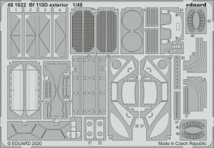 Eduard 481022 Bf 110D exterior for DRAGON 1/48