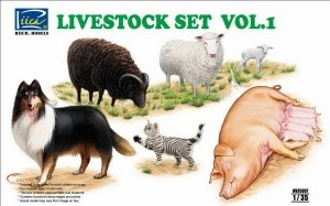 Riich Models RV35007 Livestock Set Vol.1 (1:35)