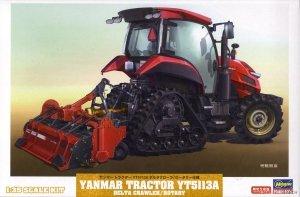 Hasegawa 66107 Yanmar Tractor YT5113A Delta Crawler/Rotary 1/35