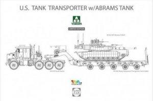 Takom 5002X M1070 & M1000 w/ M1A2 SEP Abrams Tusk II 1/72