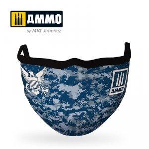 Ammo of Mig 8073 Face Mask Navy Blue Cam
