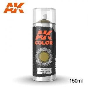 AK Interactive AK 1025 OLIVE DRAB COLOR SPRAY 150ml