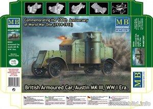 MASTER BOX 72007 British Armoured Car Austin MK III WW I Era (1:72)