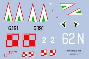 Weikert Decals DEC702 Oznaczenia na samolot myśliwski PZL P.11 A 1/72