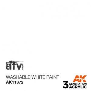 AK-Interactive AK 11372 Washable White Paint 17ml