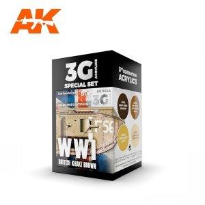 AK Interactive AK 11644 WWI BRITISH COLORS MODULATION SET 4x17 ml