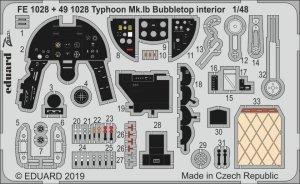 Eduard FE1028 Typhoon Mk. Ib Bubbletop 1/48 HASEGAWA, ITALERI