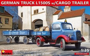 MiniArt 38023 GERMAN TRUCK L1500S w/CARGO TRAILER 1/35