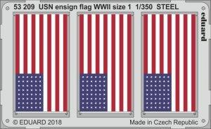 Eduard 53209 USN ensign flag WWII size 1 STEEL 1/350