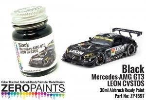 Zero Paints ZP-1597 Black - Mercedes AMG GT3 LEON CVSTOS Paint 30ml