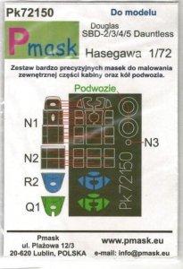 P-Mask PK72150 Douglas SBD-2/SBD-3/SBD-4/SBD-5 Dauntless (Hasegawa) 1/72