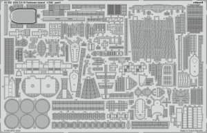 Eduard 53252 USS CV-10 Yorktown island 1/350 TRUMPETER