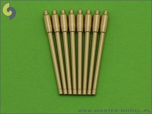 Master SM-700-029 France 380 mm/45 (14.96in) Model 1935 barrels - for turrets without blastbags (8pcs)