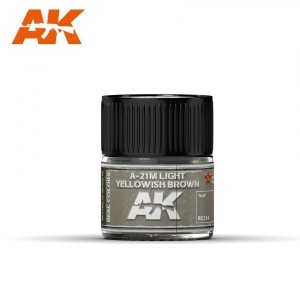 AK Interactive RC314 A-21M LIGHT YELLOWISH BROWN 10ML