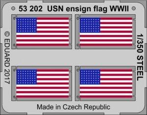 Eduard 53202 USN ensign flag WW2 STEEL 1/350