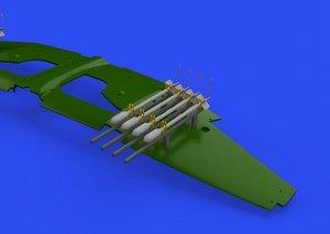 Eduard 648641 RP-3 60lb rockets for Tempest Mk.II EDUARD/SPECIAL HOBBY 1/48