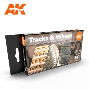AK Interactive AK 11672 TRACKS & WHEELS  6x17 ml