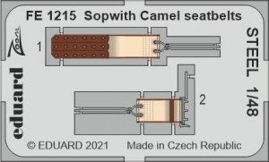 Eduard FE1215 Sopwith Camel seatbelts STEEL EDUARD 1/48